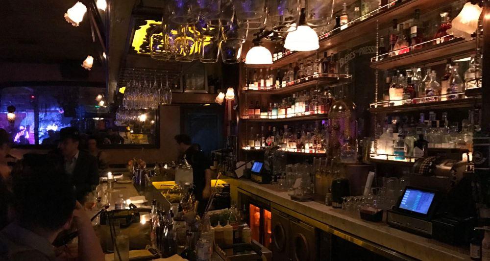 The bar at Pour Vous