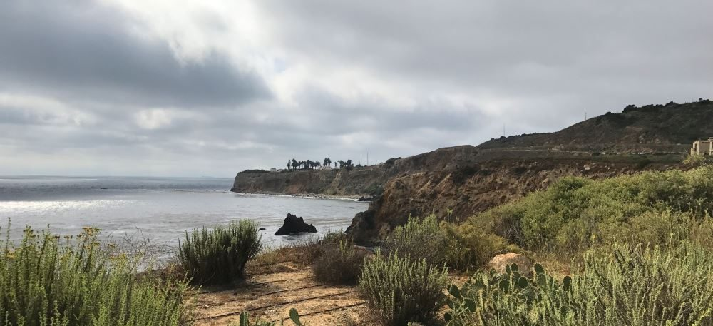 View of the Point Vicente Lighthouse in the distance