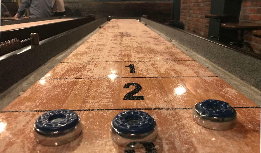 Table shuffleboard at the Rhythm Room LA