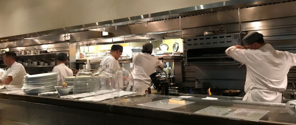 The kitchen at Spago