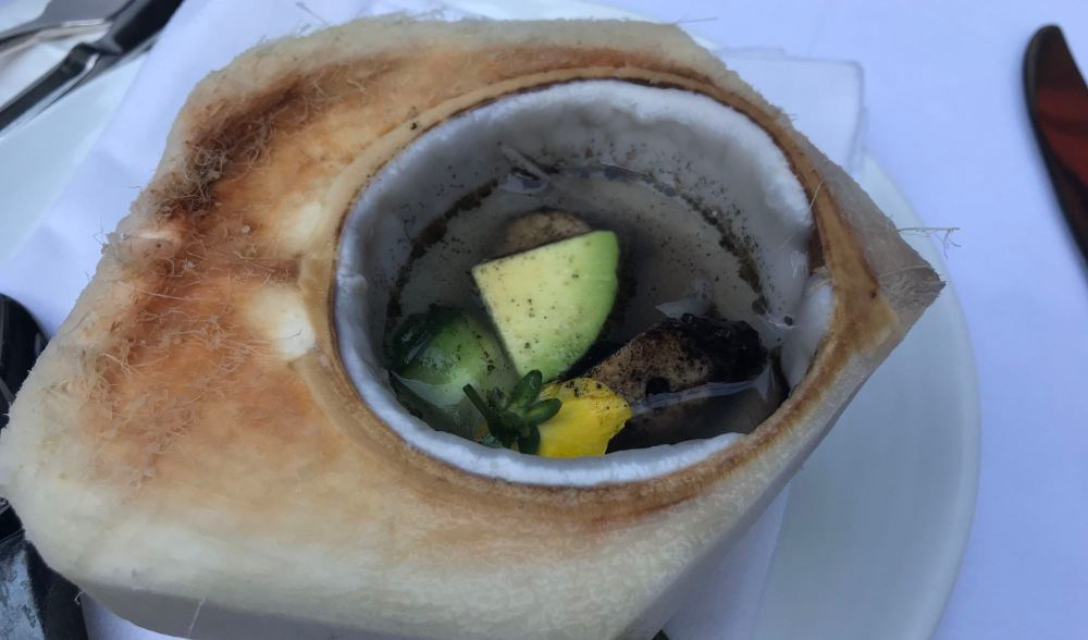 Charred Octopus in Coconut Bowl