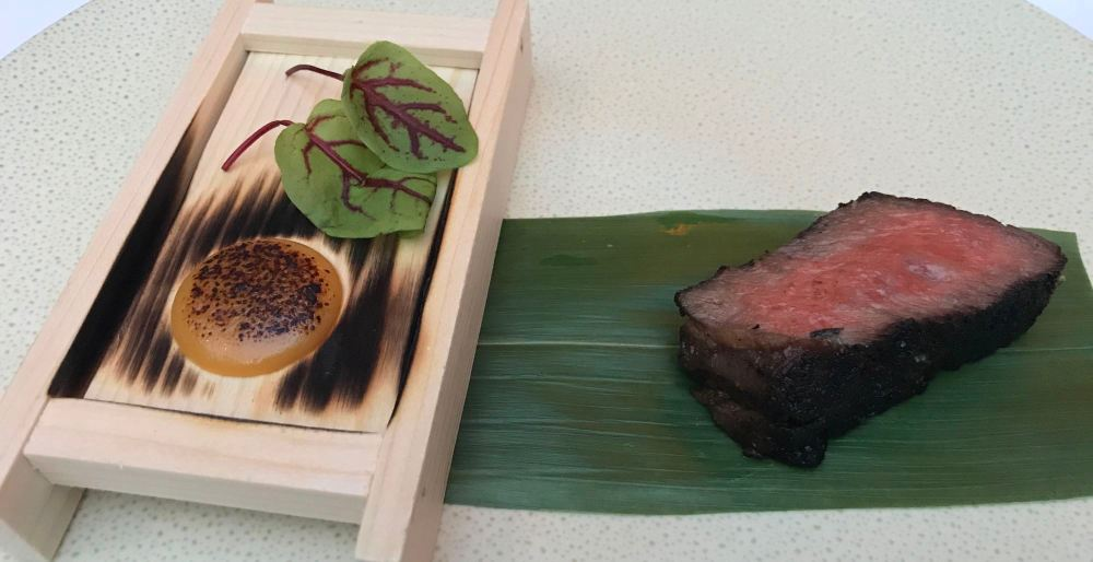 Snake River Farm's Wagyu Rib-Eye at Spago