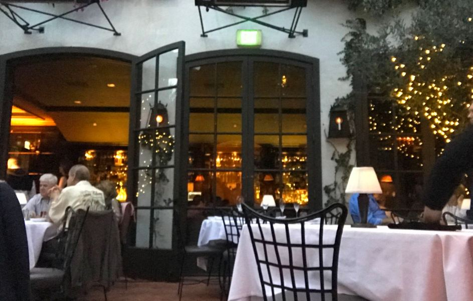 Courtyard dining at Spago