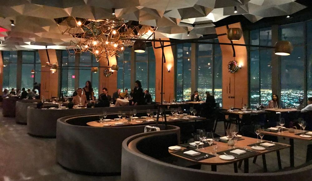 Dining room at 71 Above