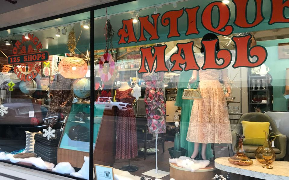 Vintage clothing and antique store at Orange Circle
