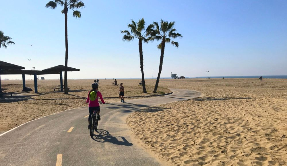 The Strand bike path in Venice
