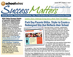 Schoolwires newsletter