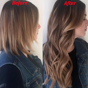 length show of human hair clip in extensions