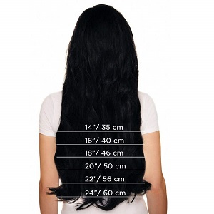 highlight blonde clip in human hair extensions