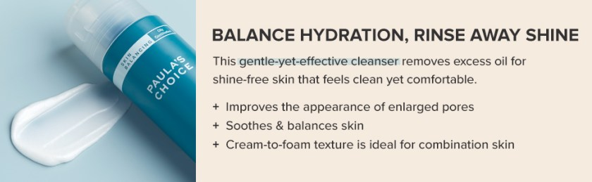 A facial cleanser that effectively cleanses and improves the appearance of enlarged pores.