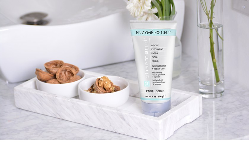 Pharmagel Enzyme Ex-Cell Gentle Exfoliating Facial Scrub Facial Cleanser to Smooth and Brighten