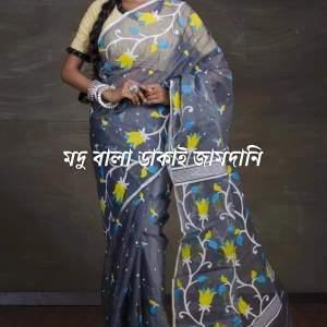 Madhubala Dhakai Jamdani Saree