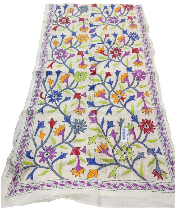 Kantha Embroidery Stole