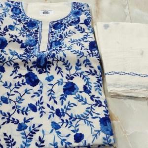 Kantha Stitched Salwar Material