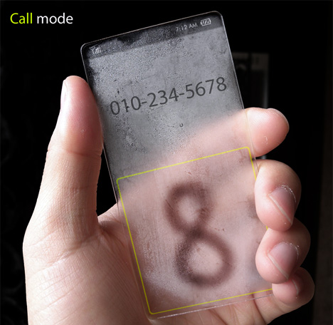 Completely Transparent Cell Phone Concept Designed by Seunghan Song (4)