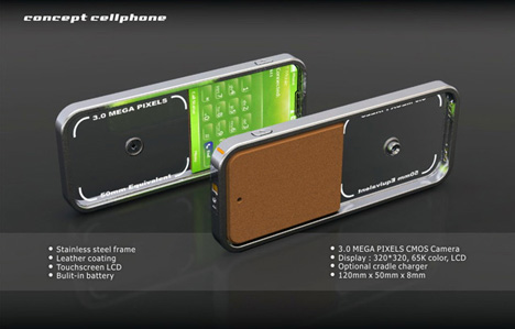 Completely Transparent Cell Phone Concept Designed by Seunghan Song (8) what you see is what you get
