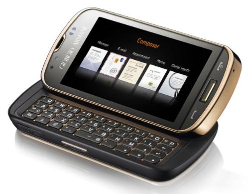The new Giorgio Armani Samsung B7620 Smartphone