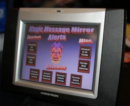 Wall Mirror Reveals The Virtual Butler