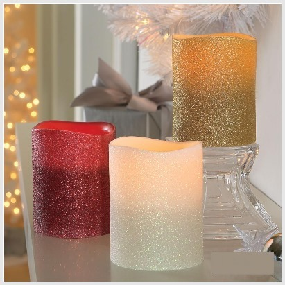 Glittering Flameless Candles