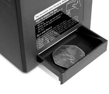 Money Box Shrinks Your Coins to Save Space Apparently