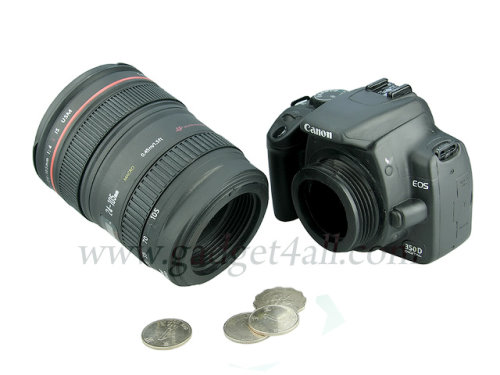 DSLR Camera Shaped Money Bank Looks Cool