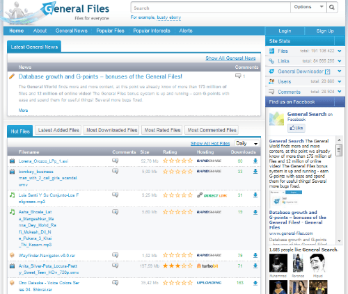 General Files Combines File Sharing With Social Networking