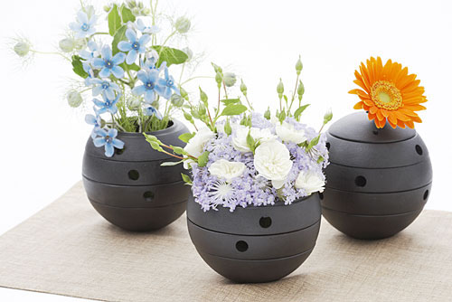 Rolo Flower Vase and Candle Holder by T. Matsudaira