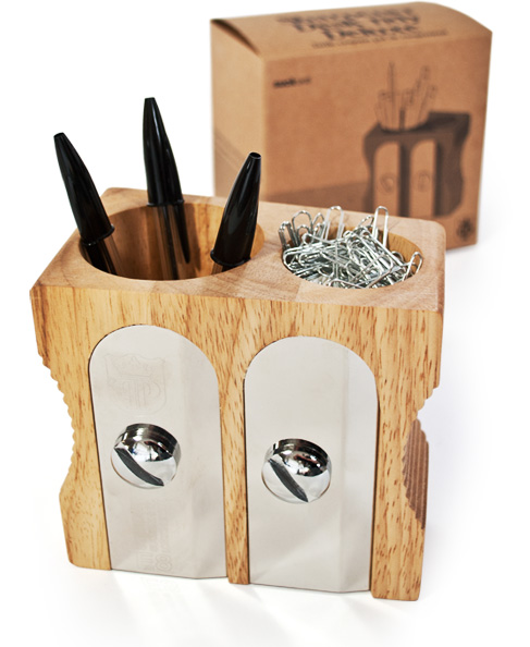 Sharpener Desk Tidy Deluxe Holds Pens and Paperclips