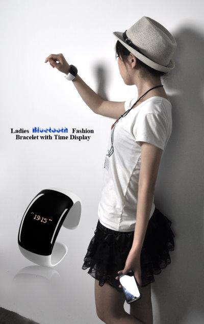 Stylish Cuff Bracelet With Built-in Digital Watch