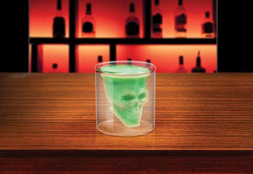 Shotglass With Skull Inside
