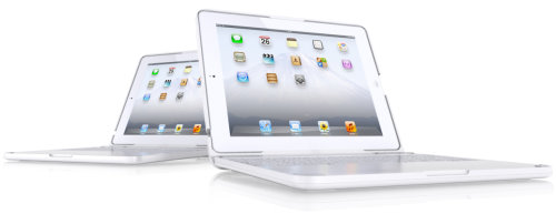 ClamCase Matte White Turns Your iPad 2 Into a Cool White Laptop