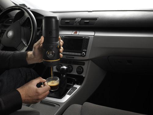 Handpresso Auto Prepares Espresso in the Car