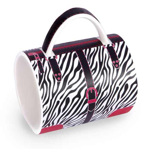 The Handbag Mug With Zebra Print