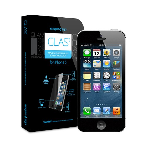iPhone 5 Screen Protector GLAS.t Premium Tempered Glass