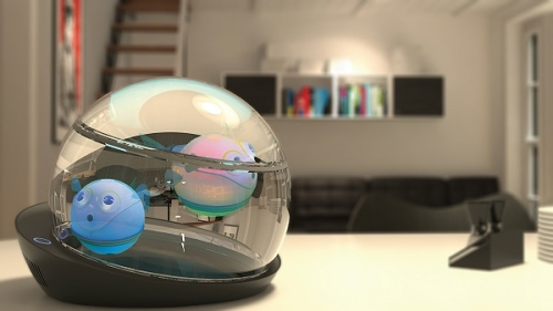 capsule aquarium lumipuff fish robotic (3)