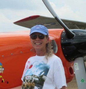 Anne Wright who adds each new lady taildragger pilot to our Googlemap so we can find each other throughout the world.