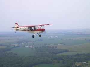 Kathy flying Rans 7