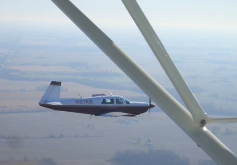"""Formation flying with """"the guys"""" in Mooney N27AF (a 231)"""