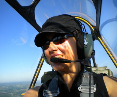 "Elaine Kauh ""My first flight in a ""6""!"