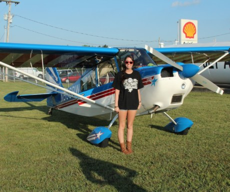 Allison's first solo cross country …….. was to the Lady Taildraggers Flyin!