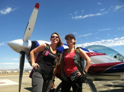 Chelsea Stein Enberg and Michelle Kole (of 5g Aviation)