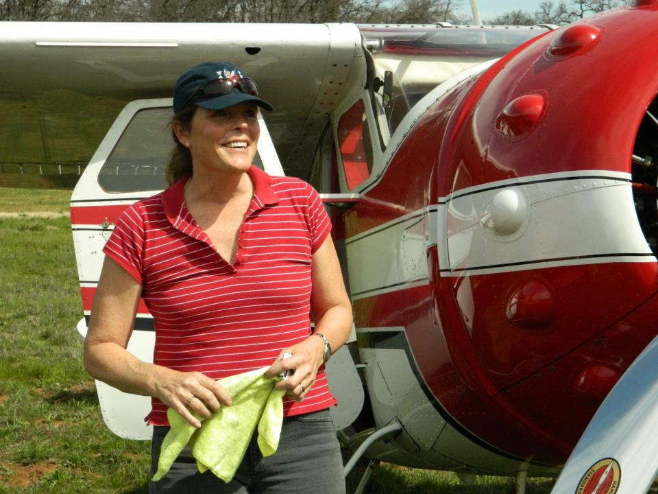 Jan Johnson and Elsie, her beautiful Cessna 195