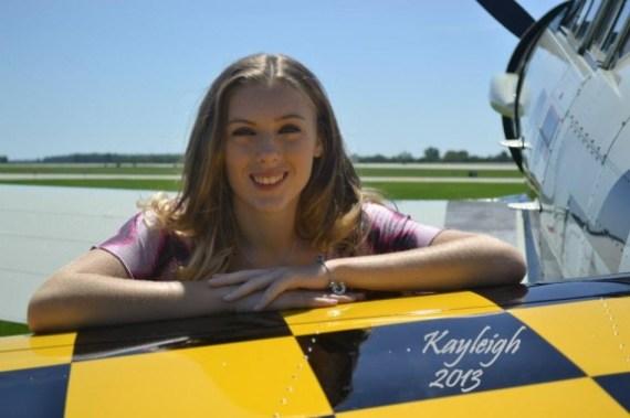 Kayleigh Bordner T-6 close up