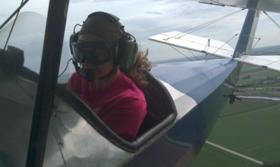 Susan Johnson open cockpit