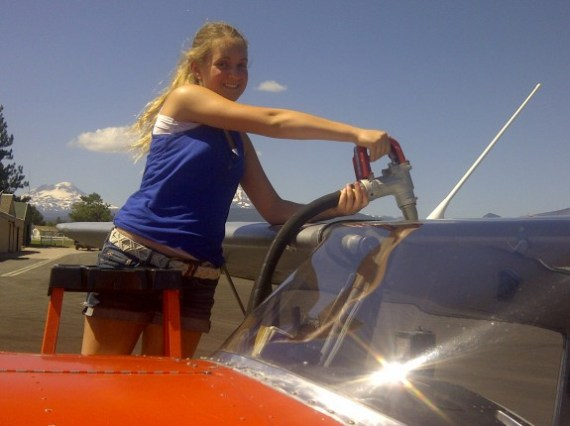 Cammi Benson, courtesy Tailwheeler's Journal. http://tailwheelersjournal.com/2014/101-fatherdaughter-arrival/
