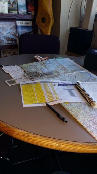 Emily Carpenter flight planning