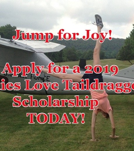 Apply NOW for a 2019 LadiesLoveTaildraggers Scholarship!