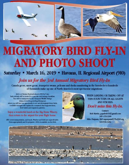Invitation to the Migratory Bird Fly-in, Havana, IL