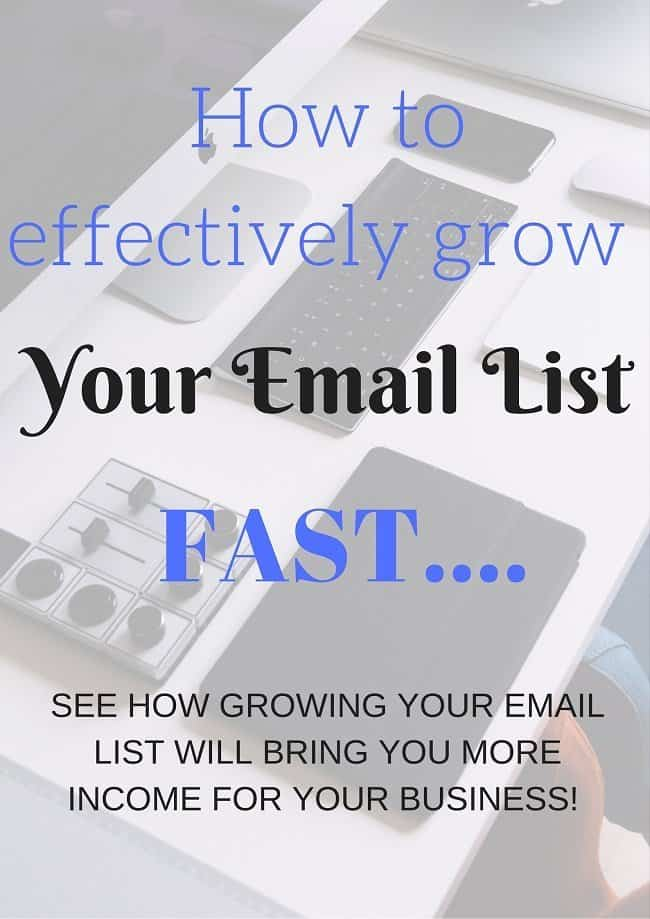 How to effectively grow your email list fast