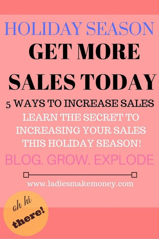 increase sales during the Holiday Season